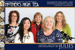2015 Mother's High Tea MCs and Speakers. Ms. Susan Squibb, Mrs. Kristi Kelly, Senator Beth Martinez Humenick, Mrs. Christie Lunsford, Ms. AC Braddock. (Not pictured, Ms. Diane Fornbacher) Photo courtesy CliquePics.